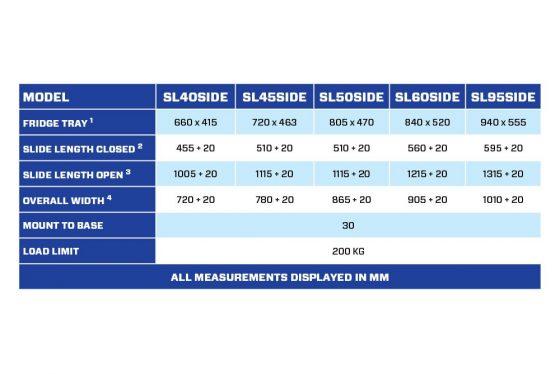 SL60SIDE Straight Fridge Slide TheUTEShop Products