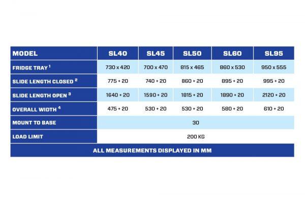 SL95 Straight Fridge Slide TheUTEShop Products