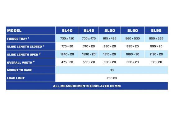 SL95SIDE Straight Fridge Slide TheUTEShop Products