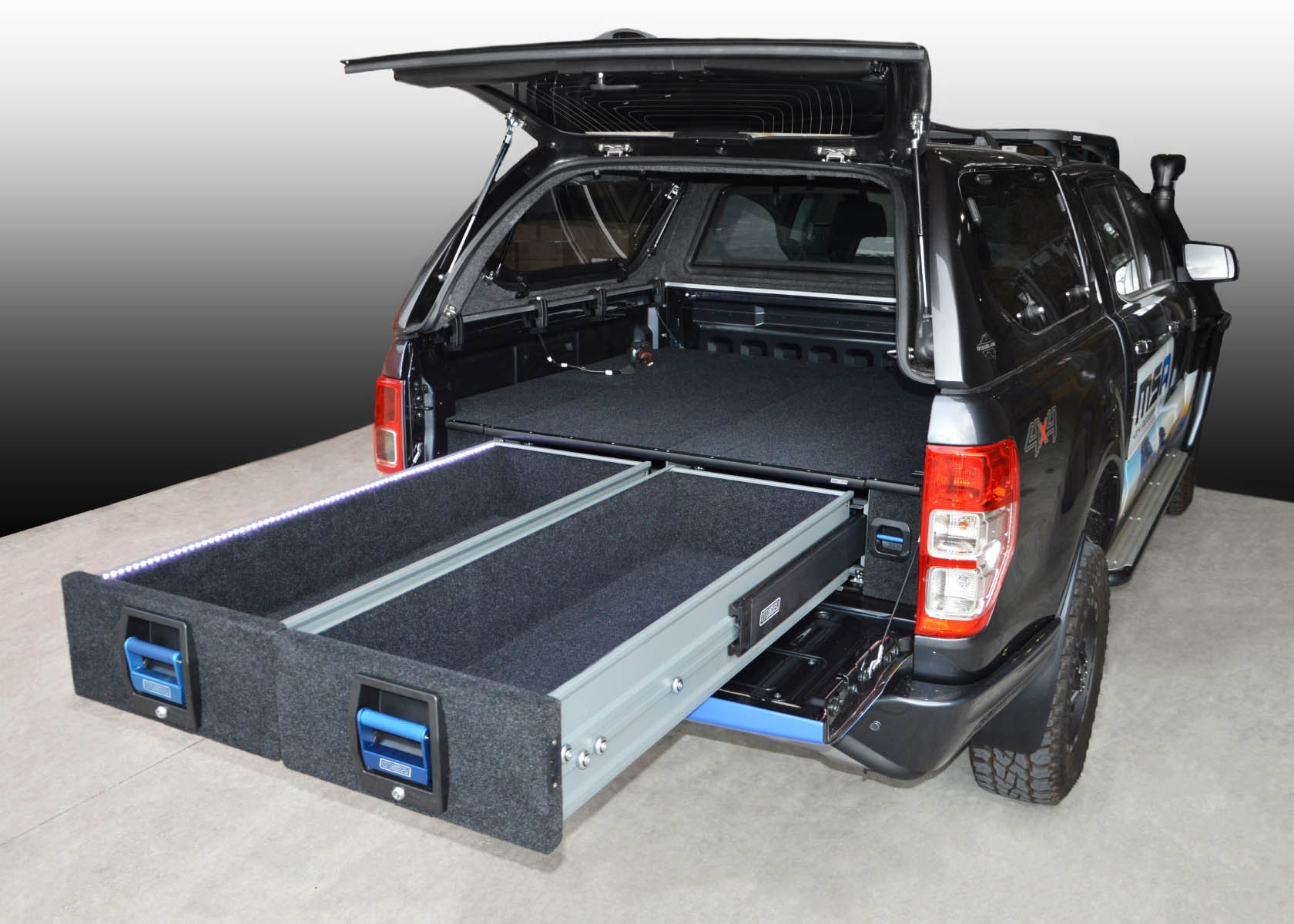 Ford Tonneau Cover >> Ford Ranger / Mazda BT50 Double Drawer System - The UTE Shop