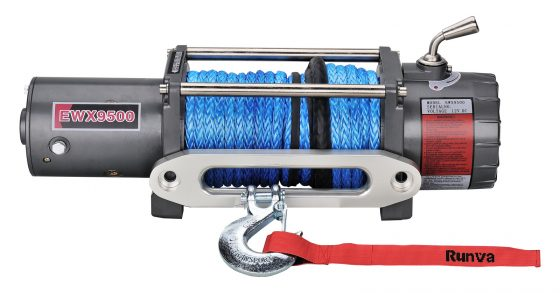Runva EWX9500 12V with Synthetic Rope TheUTEShop Products
