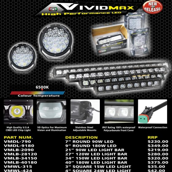 EFS VIVIDMAX HIGH PERFORMANCE LED TheUTEShop Products
