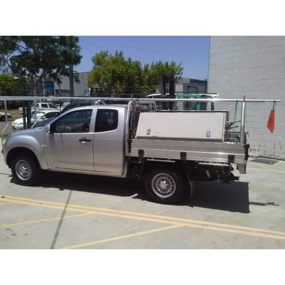 Isuzu Dmax Brush Finish Style Rack with Removable Pins TheUTEShop Products