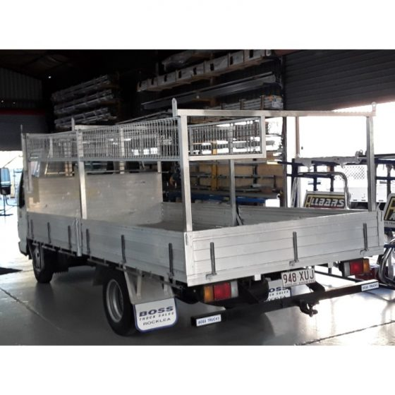 Concreters Truck with 40x40 Steel Racks & caged basket TheUTEShop Products