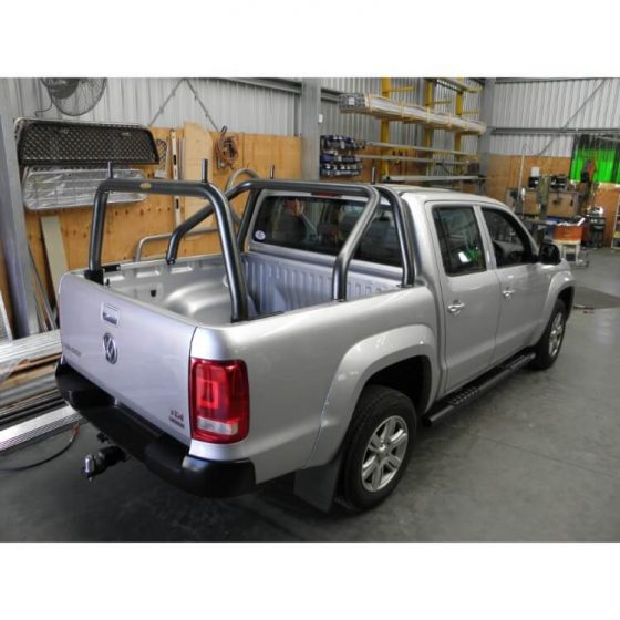 VW Amarok Rear Style Rack with Pins in Hammer Tone finish TheUTEShop Products