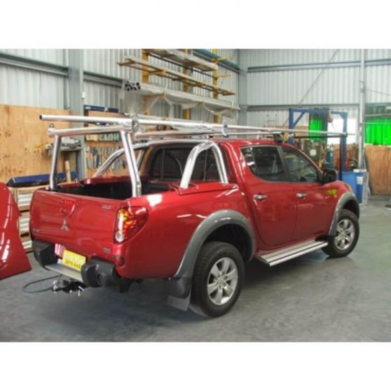Mitsubishi MN Triton Adaptor on Factory Sports Bar with Rear Trade Rack TheUTEShop Products