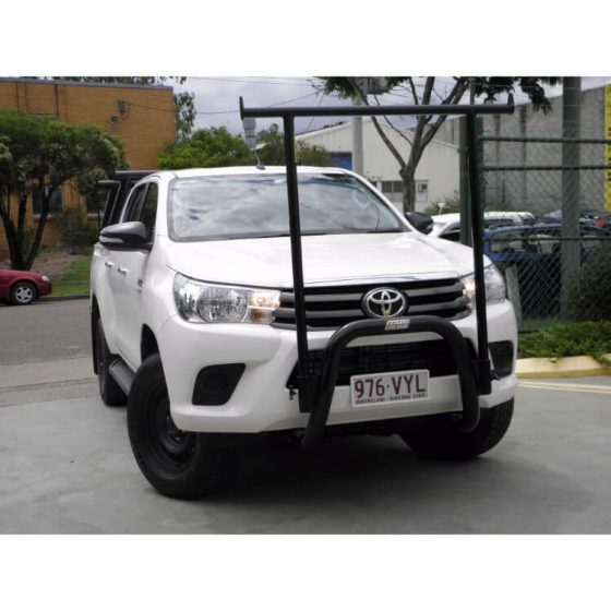 P/Coated Black Nudgebar & Hrack Set compatible with Toyota Hilux TheUTEShop Products